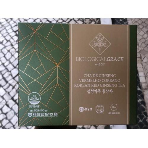 Biological Grace 50 saquetas solúveis com 10% de Extracto Gold Panax Ginseng C.A. Meyer Vermelho Coreano
